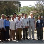 Wat Phnom Primary School Staff with Pam Pollard